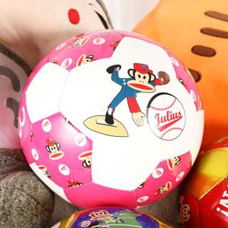 大嘴猴 儿童足球3号中小学生训练用球耐磨周边玩具男女童幼儿宝宝青少年带打气筒气针机缝足球  粉色