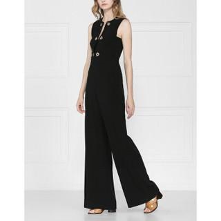 DEREK LAM 10 CROSBY女士无袖连体裤 黑色 美国尺码