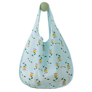 牧旅 旅行居家牛津布购物袋 环保大容量购物袋 可折叠出行备用袋 文艺皇冠花