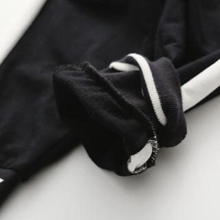 cicie自营童装女童裤子印花休闲裤女孩儿童长裤C91016 黑色 150/61