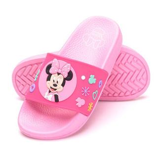 DISNEY 迪士尼儿童凉拖鞋 卡通男童女童舒适家居拖鞋 中童粉红170码 6160