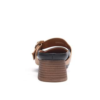 Fuguiniao 富贵鸟 女单鞋休闲浅口低跟头层牛皮懒人时尚K99D531C 黑色 39