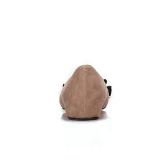 骆驼  A91042643 女士 轻熟温婉水钻尖头浅口单鞋 A91042643 杏色 34