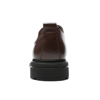 RED DRAGONFLY 红蜻蜓 商务休闲舒适系带耐磨男皮鞋 WTA87571/72 棕色 41
