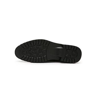 CAMEL 骆驼 男鞋商务休闲头层牛皮时尚简约系带 W912283150 黄棕 39/245码