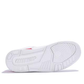 Semir 森马 时尚潮流拼色低帮平底系带休闲户外跑步篮球运动鞋男 119119604 白灰色 38码