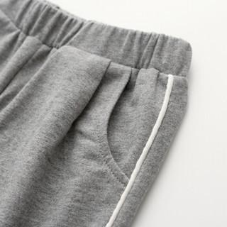 cicie自营童装女童裤子收口纯色运动裤休闲女孩儿童长裤C91015 灰色 130/53