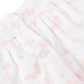 Gap旗舰店 童装 女婴幼童 夏季棉质蝴蝶印花方领短袖连衣裙307318 蝴蝶图案白色 110cm(4T)