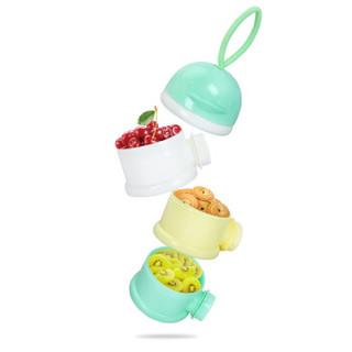 小哈伦奶粉盒婴儿便携式外出装奶粉便携盒宝宝迷你分装储存盒新生儿奶粉格 浅松绿手提款