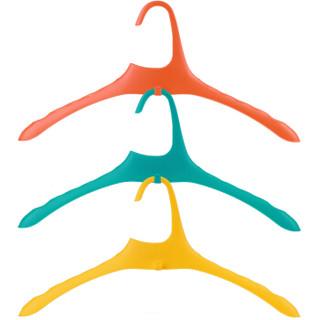清野の木 AIR系列通风透气防滑可叠放衣架 宽肩无痕干湿两用塑料晾衣架 黄色5只