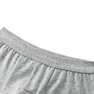 全棉时代 少男针织平角裤165/85 浅花灰+浅天蓝 2件装