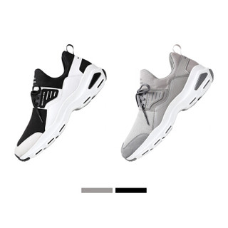 SKECHERS 斯凯奇 休闲鞋 男款D'lite时尚一脚套厚底增高 666059 黑色,白色 42