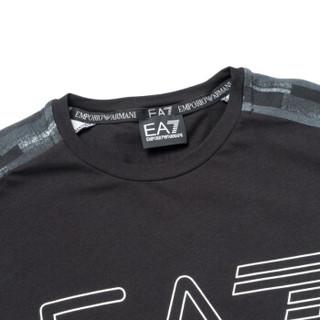 EA7 EMPORIO ARMANI阿玛尼奢侈品男士时尚印花短袖针织T恤衫  6ZPT18-PJ04Z BLACK-1200 S
