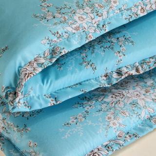 思侬家纺 床垫 双人床1.8米加厚磨毛可拆洗可折叠防滑床垫床褥床护垫 花开半夏  180*200*3cm