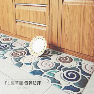 大江 长条厨房地垫防滑垫防油防水家用脚垫 烹饪时光45*75+45*150cm套装