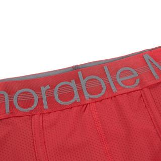 HLA 海澜之家 针织平角短裤男新品一条装本命红舒适内裤 HUKAJ1R011A 大红(11)170/95(L) (红色、L、平角裤、其他)