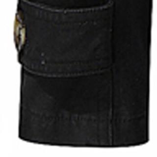 卡帝乐鳄鱼(CARTELO)风衣 男士潮流纯色翻领中长款风衣外套QT4000-5793黑色5XL