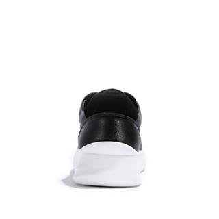 Semir 森马 韩版潮流低帮系带时尚青春休闲白色百搭板鞋男 119113101 黑色 40码