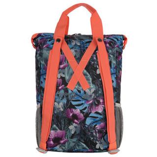 探路者(TOREAD)户外男女通用款双肩背包手提包ZEBF80831蓝紫色印花
