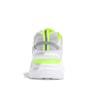 森马 Senma 时尚潮流拼色系带运动休闲韩版户外跑步鞋女 229114204 白绿色 36码