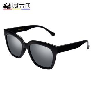 威古氏 VEGOOS 偏光太阳镜男女款时尚驾驶镜墨镜眼镜 6109 亮黑框镜面水银