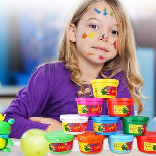 GIOTTO be-be奇多贝贝橡皮泥套装2岁儿童益智玩具安全放心彩泥植物黏土100g橙绿洋红三色套装462502