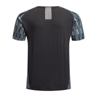 EA7 EMPORIO ARMANI阿玛尼奢侈品男士时尚印花短袖针织T恤衫  6ZPT18-PJ04Z BLACK-1200 M