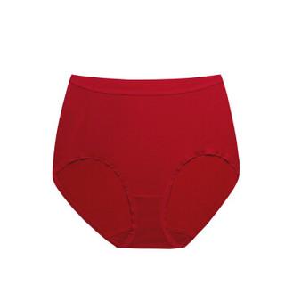 全棉时代 内裤 女士内裤三角裤 女士针织高腰三角裤165/95 红色+红色 2件装