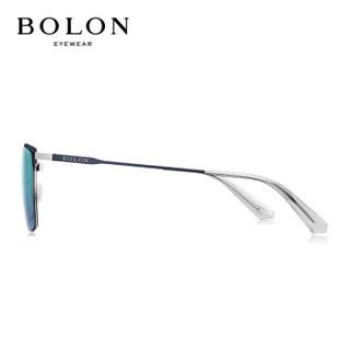 暴龙BOLON太阳镜男款19年新款偏光太阳眼镜D形框墨镜BL8056D70