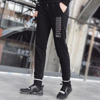 PUMA 彪马 男子 收腿裤 长裤 ATHLETICS TR CL 运动裤 844134 01黑色XXL码