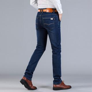 太子龙(TEDELON)牛仔裤男2019春季新款裤子男商务休闲男装直筒牛仔长裤男 SS-1761深蓝 30
