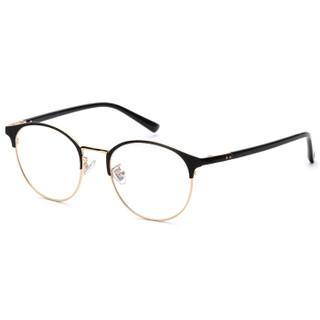 LOHO 偏光太阳镜夹片带磁铁吸附式近视眼镜框架男女款 LHK020 金色+茶色夹片