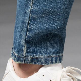 凯撒(KAISER)牛仔裤 男2019春季新款修身小脚舒适时尚青年休闲牛仔男士长裤 Q913-N8619 深蓝色 31
