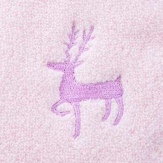 智慧佳儿(wit days)婴儿毛巾 新生婴儿儿童毛巾30*30cm 德国品牌 小鹿款儿童方巾3条装 白/绿/粉