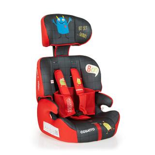 COSATTO英国儿童安全座椅汽车用9个月-12岁宝宝 可折叠 安全带安装 ZOOMIPLUS怪兽先生