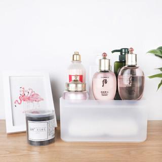 香柚小镇化妆品护肤品收纳盒梳妆台半透明塑料磨砂桌面置物架大号