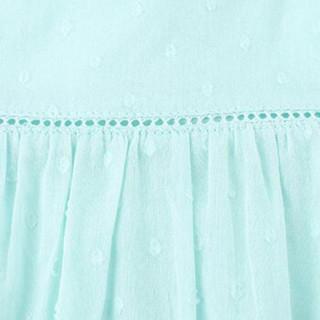 Gap旗舰店 童装 女婴幼童 夏季时尚舒适褶饰短袖连衣裙282010 天空蓝 80CM(12-18月)