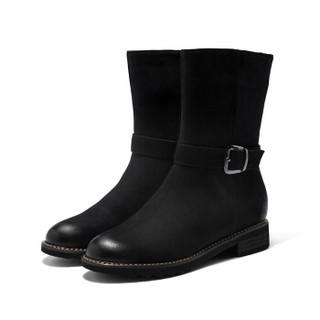 AOKANG 奥康 加绒马丁靴学生韩版18493103535黑色35码