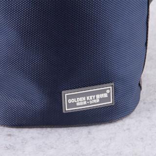 金钥匙(GOLDEN KEY)桶形保温包 背带便当加厚铝箔保温饭盒提锅手提袋保鲜包(中号蓝色)GK-CF220-B