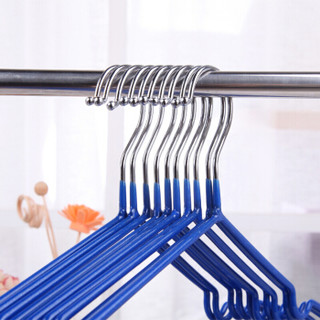 晟旎尚品 衣架 晾衣架子成人儿童通用型浸胶防滑凹槽衣服架衣撑子 20只装