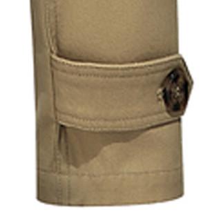 卡帝乐鳄鱼(CARTELO)风衣 男士潮流纯色翻领中长款风衣外套QT4000-5793土黄色XL
