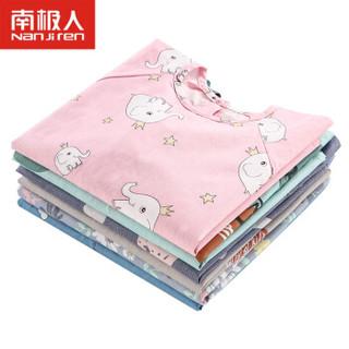 南极人(Nanjiren)宝宝吃饭罩衣纯棉长袖婴儿围兜儿童反穿衣防水围裙 水蓝爱心 100