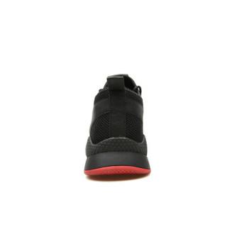EGCHI 宜驰 运动休闲男士网布慢跑步户外男鞋子 78123 黑色 43