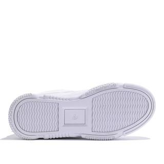 森马 Senma 时尚潮流韩版百搭学生运动舒适系带休闲小白鞋女 129114201 白色 36码
