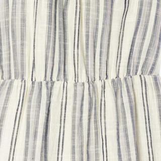 Gap旗舰店 童装女孩棉质条纹挂脖分层式连衣裙 337570 轻白色多彩条纹 120cm(S)