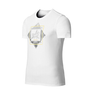 Columbia 哥伦比亚 男款户外运动印花吸湿速干短袖圆领T恤 PM3499 100 XL