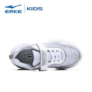 鸿星尔克(ERKE)童鞋男儿童运动鞋大童慢跑鞋 63119120055 正白 39码