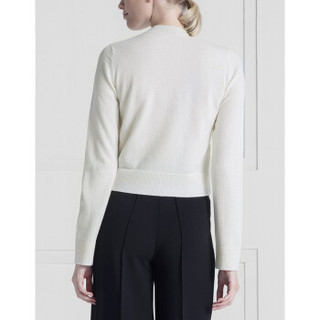 BARRIE女士Fluttering Lace花纹毛衣开衫 白色 国际通用码