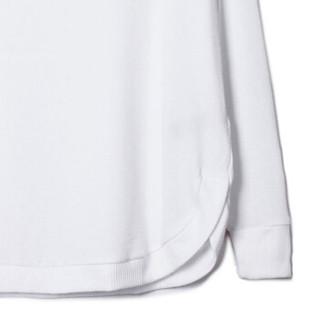 Gap旗舰店 女装 柔软插肩袖长款薄针织衫 圆弧下摆毛衣女 153842 白颜色 XS