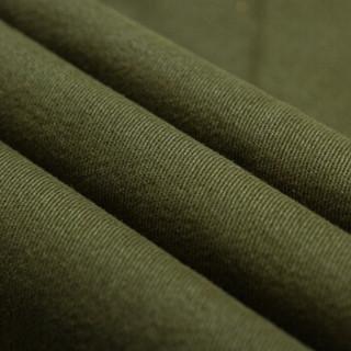 卡帝乐鳄鱼(CARTELO)休闲裤 男士时尚潮流纯色修身百搭休闲长裤K118军绿色28